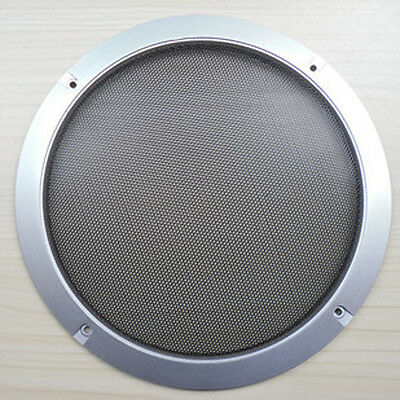 """1pcs 3"""" 4"""" 5"""" 6"""" Silver Circle Speaker Cover Decor Circle With Protective Grille"""