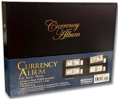 Currency Album For Small Banknotes Collection 8 Pages 32 US Bill Collector Gift