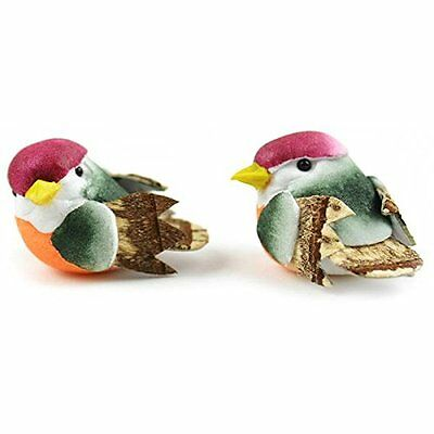 Touch of Nature 2-Piece Mini Mushroom Bird for Arts and Crafts, 1-Inch, Peach/Mo