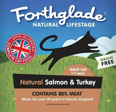 Forthglade Gluten Free Adult Cat Salmon & Turkey 90g (Pack of 12)
