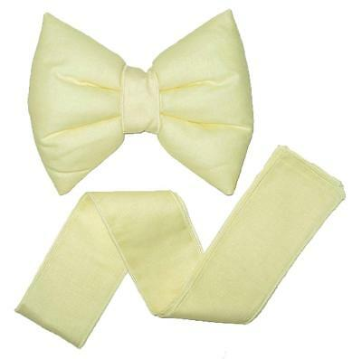 Baby Room Decorative Bow for Curtains / Canopy / Drape Decoration - Yellow Cream