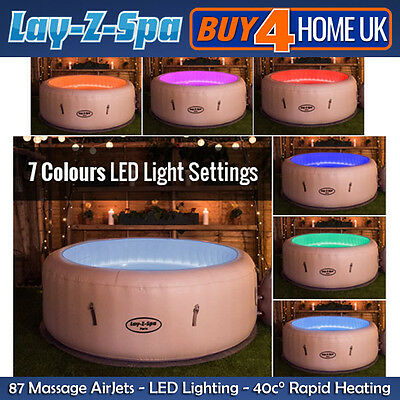 Lay Z Spa Paris Hot Tub 2017 Model - LED Lights Inflatable Jacuzzi 4-6 Person