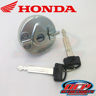 New Genuine Honda 2006 - 2009 Metropolitan 50 Oem Fuel Filler Cap With Keys
