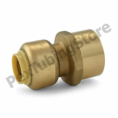 "(25) 3/8"" Sharkbite Style Push-Fit x 1/2"" FNPT Lead-Free Brass FNPT Adapters"
