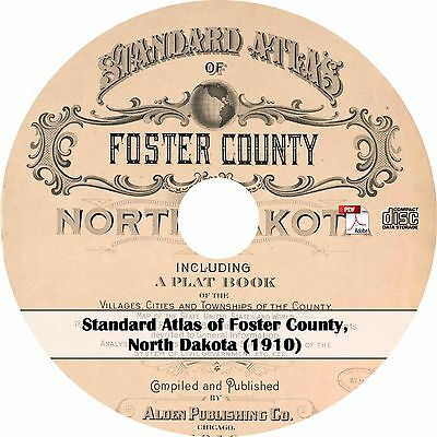 1910 Atlas & Plat Book of Foster County, North Dakota - ND History Maps on CD