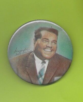 Fats Domino 1950's large pinback button badge pin LARGE T