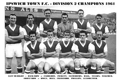 Ipswich Town F.c.team Print 1961 - Division 2 Champs
