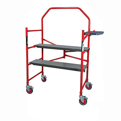 Metaltech 4' Buildman Portable Drywall/Painting Scaffold - 750 lb. / 350 kg Cap.