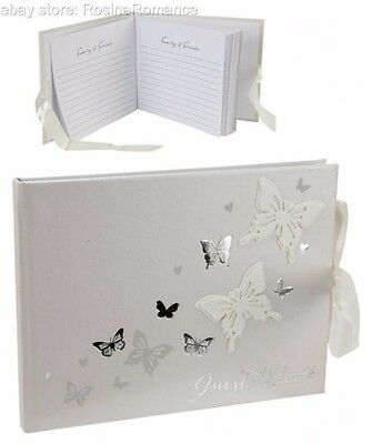 3D Love Butterfly Wedding Guest Book Bride Groom Husband Wife Engagement Gift