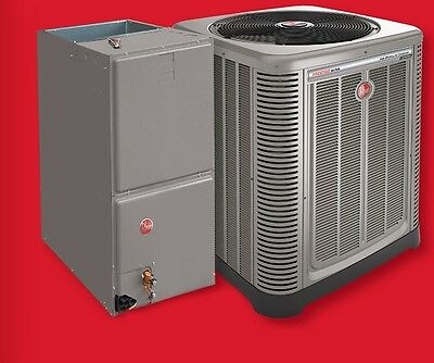 Central Air Conditioning Complete Turn Key System Rheem 14 Seer 3
