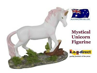 Mystical Unicorn Figurine 12Cm Tall Glitter Mane And Tail -Uniml Pink