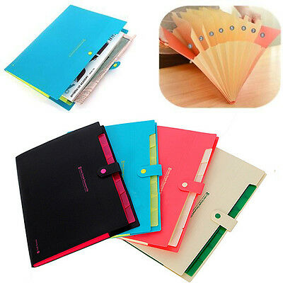2016 Plastic 8 Pockets A4 Paper File Folder Cover Holder Documents Office AUL