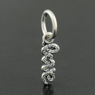 Authentic Genuine Pandora Sterling Silver Signature of Love Charm - 791428CZ