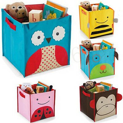 Children's Toys Storage Box/Pouch Foldable Cute 5 Individual Animal Storage Bag