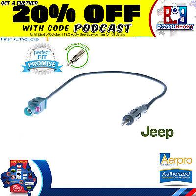 Aerpro Antenna Adapter To Suit Jeep Wrangler Jk 2007 On