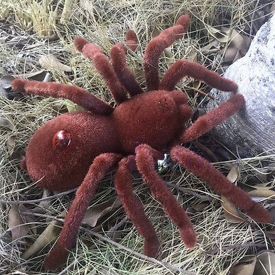 Remote Control Scary Creepy Soft Plush Spider Infrared RC Tarantula Kid Toy NEW