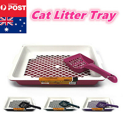 New Cat Pet Toilet Litter Tray Portable Hooded House Handle Scoop Box Colour