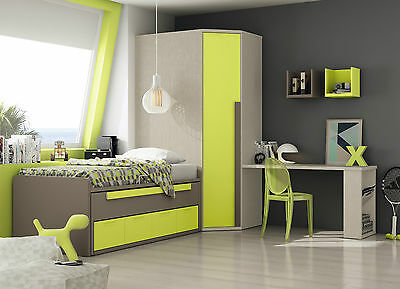 komplett jugendzimmer play 83 eckschrank bett schreibtisch regal 31 farben eur. Black Bedroom Furniture Sets. Home Design Ideas