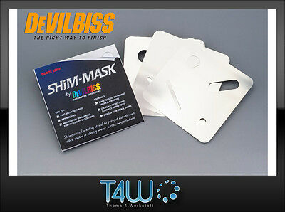 DEVILBISS SHIM-MASK covering stencil template for paint imperfections / 3 pcs.