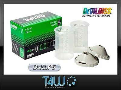 DEVILBISS DeKUPS Reusable outer sleeve and bayonet fixing lid 265ml / 1 pc.