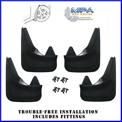 Set Of 4 Mudflaps For Ford Fiesta Mondeo Focus - Moulded Universal Fit