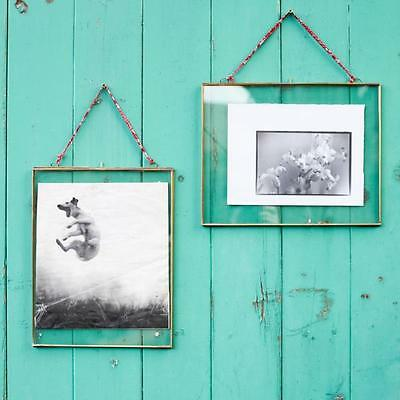 Kiko Double Sided Antique Brass Glass Landscape Picture Frame 8 X 10