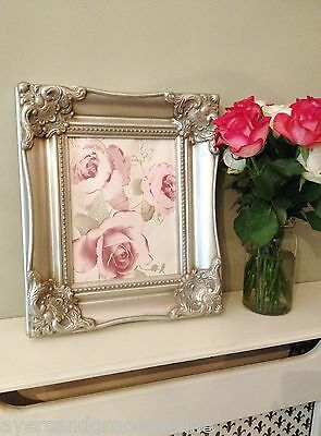 8x10 ORNATE ANTIQUE STYLE SILVER GILT CLASSIC PICTURE FRAME PREMIUM QUALITY