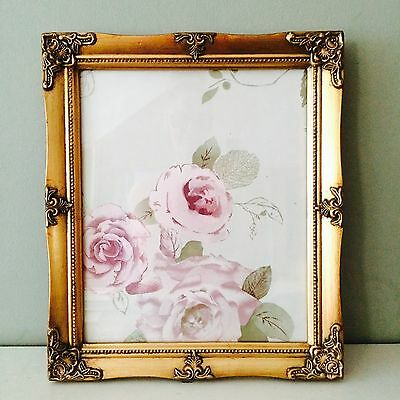 Ornate Vintage Antique Picture Frame A4 Certificate Black White Silver Ivory Gol