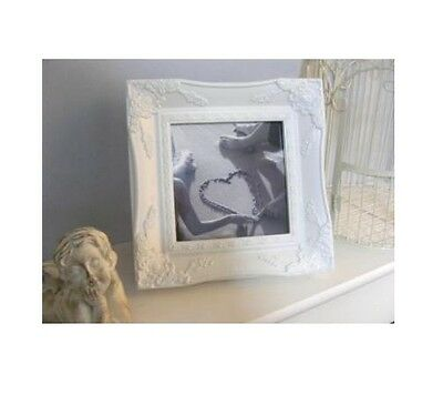 Shabby Chic Square Ornate Picture Frame Antique Black Gold Silver Ivory Or White