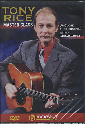 Tony Rice Master Class Acoustic Guitar Tuition DVD Learn How To Play