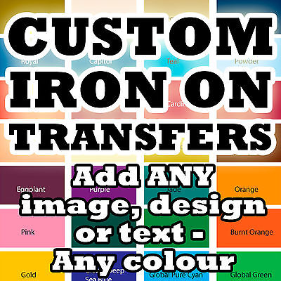 Custom Iron On T-Shirt Transfers Your Image Photo Design Personalised Hen!* P&P!