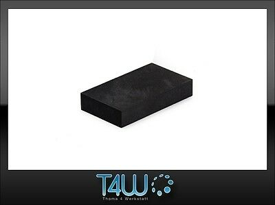 T4W Foam manual hand sanding block durable effective black (extra hard) /short