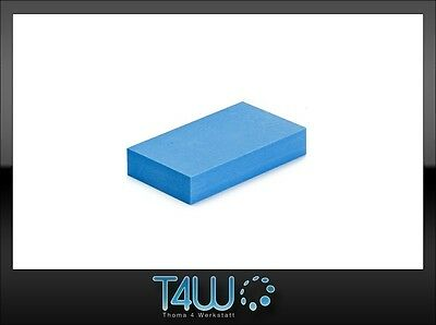 T4W Foam manual hand sanding block durable effective blue (hard) / short