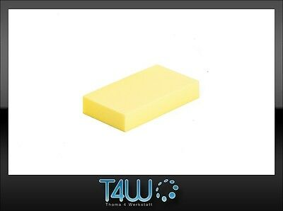 T4W Foam manual hand sanding block durable effective yellow (soft) / short