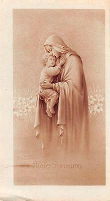 """OLD nice  rare Holy cards from circa 1930""""H3830"""" maria and jesus"""