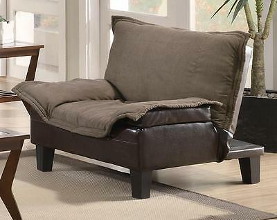 Contemporary Brown Ratchet Back Chair Bed in Microfiber/Vinyl by Coaster 300303