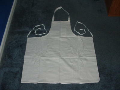 Lot 24 White Bib Chef Aprons Includes One Small Pocket