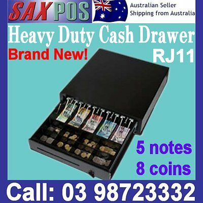 New Cash Drawer 5 notes 8 coins RJ11 heavy duty POS
