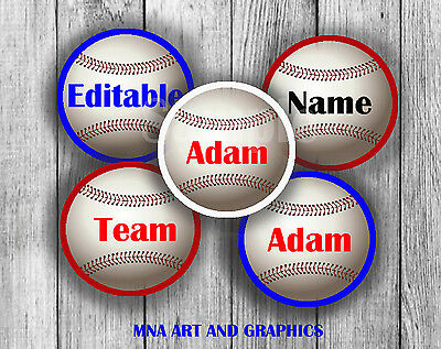Baseball CUPCAKE TOPPERS RECUT birthday party boy TOPPERS - PARTY DECORATION