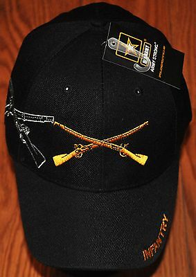 New Black US Army Infantry Hat Ball Cap Veteran Military Officially Licensed