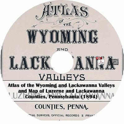 1894 Atlas Maps of Luzerne & Lackawanna County, Pennsylvania - PA Book on CD