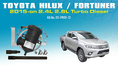 ProVent Oil Catch Can Kit for Toyota Hilux Fortuner N80 1GD-FTV 2015 2.4L 2.8L