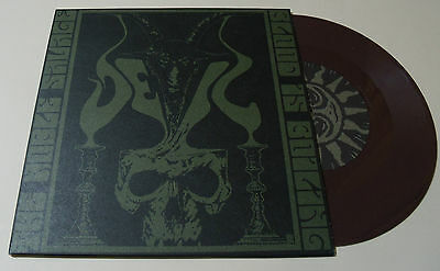 "DEVIL - The Noble Savage 7"" Vinyl Black Metal RARE Brown Wax"