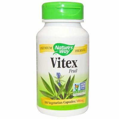 Vitex Fruit, 400mg x 100Caps, Natures Way, 24Hr Dispatch, PMS/Menopause