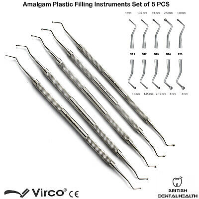 Dental Amalgam Filling Restoration Procedure Instruments Ball Burnishers Dentist
