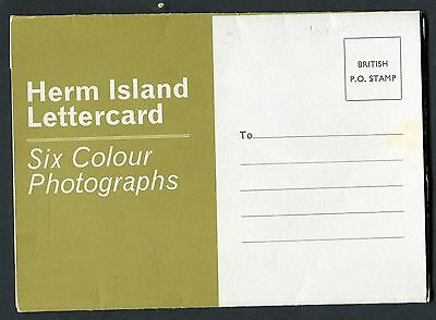 C1980's Letter Card - 6 Views of Herm Island