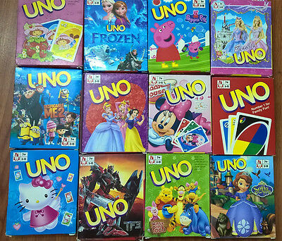 UNO CARDS Family Fun Playing Card Educational Toy Board Game w/ Different Theme