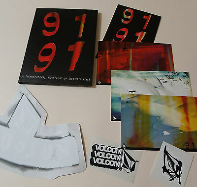 VOLCOM STONE presents 9191 DVD & POSTCARD & STICKER Lot/ Set Snowboard sideways