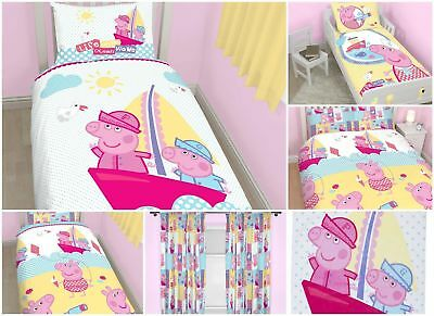 Peppa Pig Nautical Duvet Cover Bed Sets, Curtains & Matching Accessories