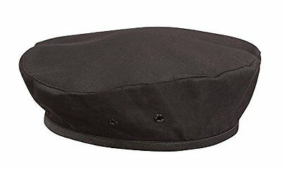 Chef Works BEBL-BLK-0 Black Beret, New, Free Shipping
